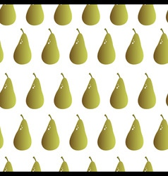 Pear repeatable seamless pattern vector