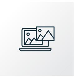 photo content icon line symbol premium quality vector image
