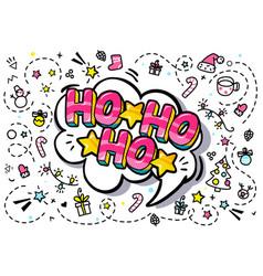 santa claus ho-ho-ho message vector image