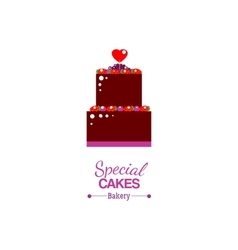 Special cake with text advertising vector image