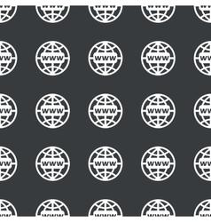 Straight black global network pattern vector