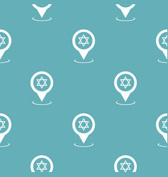 synagogue map pointer pattern seamless blue vector image