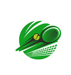 tennis ball and racket sport team club icon vector image