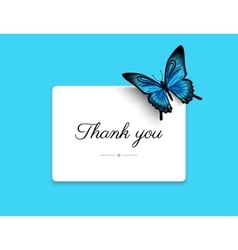 Thank you blank card vector