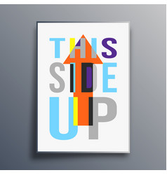 this side up poster abstract design vector image