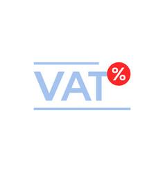 vat tax percent minimal icon vector image