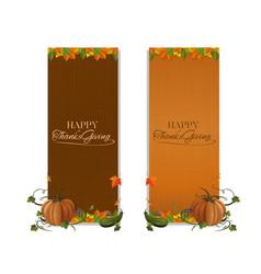 vertical banner set for thanksgiving vector image