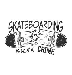 Vintage skateboarding logotype vector