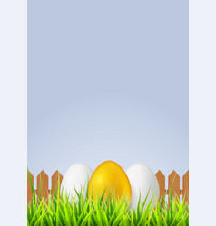 white egg with smiling face painted spray paint vector image