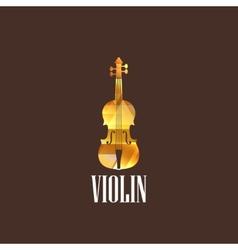 With violin icon vector
