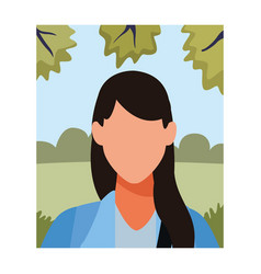 Woman faceless avatar profile vector