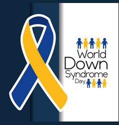 World down syndrome day flying campaign vector