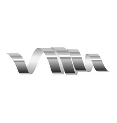 xmas serpentine icon realistic style vector image