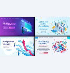 your best content manager marketing service vector image