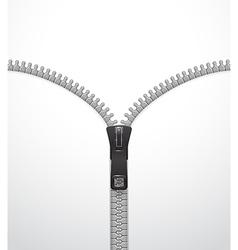 Zipper template vector image