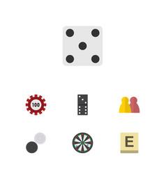 flat icon games set of arrow bones game people vector image vector image