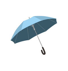 isolated blue open umbrella vector image vector image