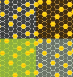 seamless honey comb pattern vector image vector image