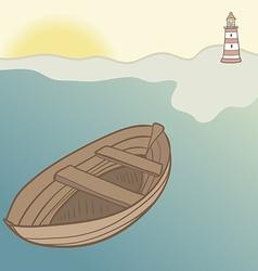 ShipLighthouse14 vector image