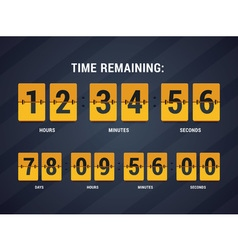 Time remaining vector image vector image