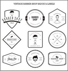 Vintage Barber Shop Badge Labels vector image