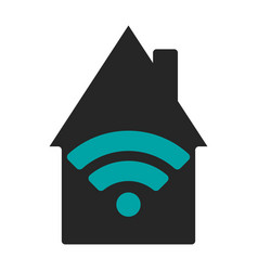 wifi house flat vector image vector image