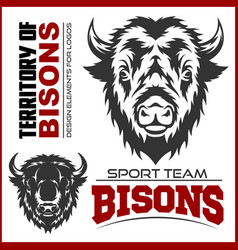 Buffalo head animal symbol great for badge label vector