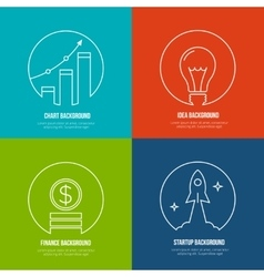 Business line art backgrounds Finance and vector image vector image