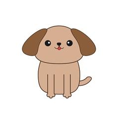 Little glamour tan Shih Tzu dog Cute cartoon vector image