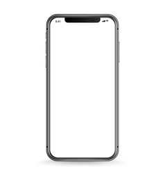 modern smartphone with blank white screen vector image