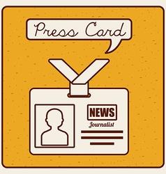press card vector image vector image