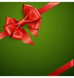 red bow3 vector image vector image