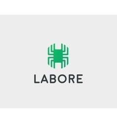 Technology logotype Electronic logo Chip vector image