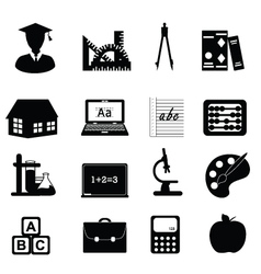 university icons vector image vector image