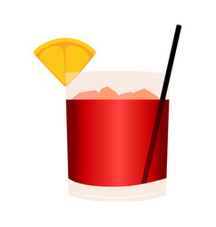 abstract delicious coctail vector image