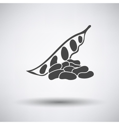 Beans icon on gray background vector image