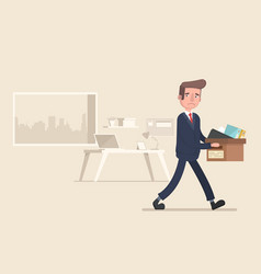 businessman fired job flat vector image vector image