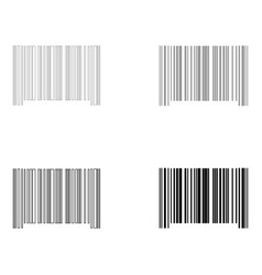 the barcode the black and grey color set icon vector image vector image