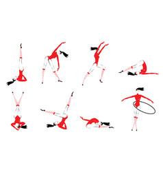 colorful gymnasts set vector image