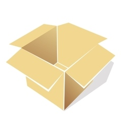 icon of empty box vector image
