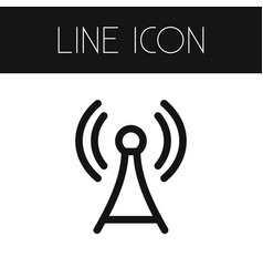 isolated network outline antenna element vector image vector image