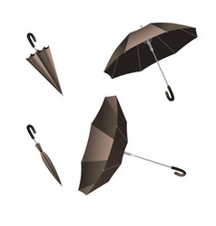 isolated open and close umbrella inverted umbrella vector image
