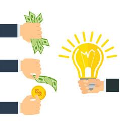 money for idea vector image