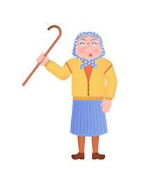 old woman saying something vector image