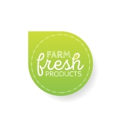 Stamp with text fresh product inside vector image