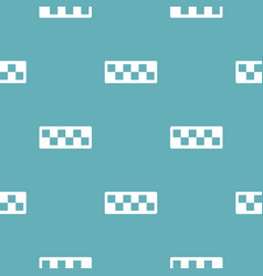 taxi cab pattern seamless blue vector image