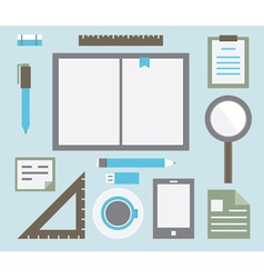 Workplace with tools vector image vector image