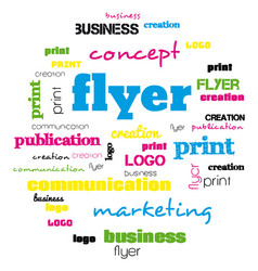 a tag word cloud for flyer and logo design vector image