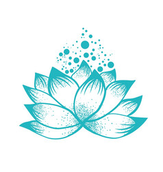 Abstract design of lilly lotus flower vector