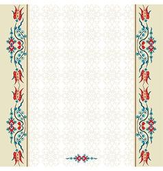 Antique ottoman turkish pattern design ninety vector image
